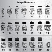 Maya numbers — Vector de stock