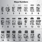 玛雅人的数字 — 图库矢量图片