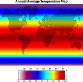 Annual Average Temperature Map — Stock Vector