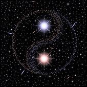 Star yin yang — Stock Vector