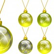 Decorations for Christmas tree yellow — Stock Vector #15576543