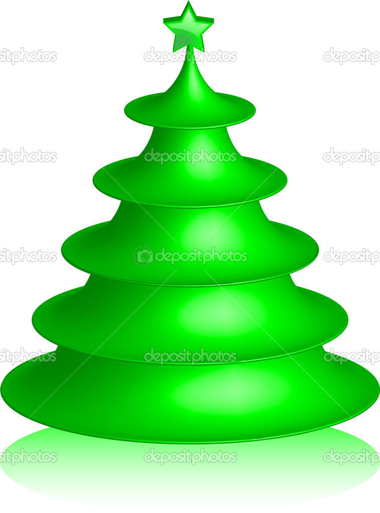 Abstract Christmas tree — Stock Vector #15860075