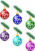 Christmas discounts — Stock Vector