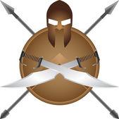 Spartan symbol — Stock Vector