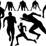 Sprint silhouette — Stock Vector