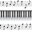 Piano keyboard standard 88 key — Stockvector #18528967