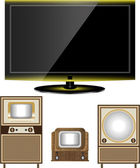 Tv old and new — Stock Vector