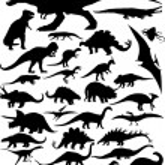 Dinosaur silhouettes — Stock Vector #19501765