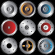 Various gears — Stock Vector