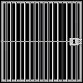 Prison bars black — Stock Vector