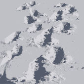Tracks in the snow — Vector de stock