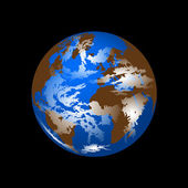 Planet Earth from space vector — Stock Vector