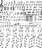 Símbolos de música — Foto Stock