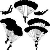 Paracaidista — Vector de stock