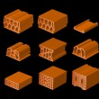 Hollow brick — Vector de stock #26438911