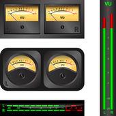 Band einheit meter — Stockvektor