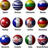 Basketball Europe — Stock Vector