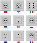 AC power sockets — Stock Vector