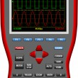 Stock Vector: Handheld Digital Big Screen Oscilloscopes