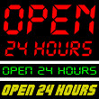 Open 24 Hours — Grafika wektorowa