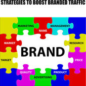 Strategies to Boost Branded Traffic — Stock Vector