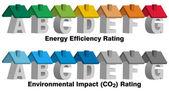 Energetické účinnosti hodnocení — Stock vektor