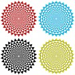 Four Concentric Circular Patterns — Stock Vector