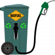 Trash can as a pump for biofuels — Stock Vector