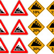 Stock Vector: Price reduction as traffic sign