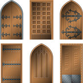 Door to the Middle Ages — Stock Vector
