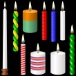 Stock Vector: Candles