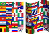 Flags of participating countries at the World Cup in Brazil — 图库矢量图片