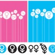 Gender Background and Symbol - Stock Vector