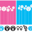 Gender Background and Symbol — Stock Vector #12092589