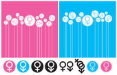 Gender Background and Symbol — Stock Vector