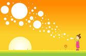 Bubblor på morgonen — Stockvektor
