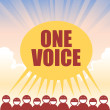 One Voice — Stok Vektör #12212385