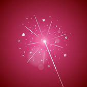 Love Sparkler — Stock Vector