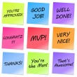 Vector de stock : Appreciation Notes