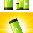 Stock Vector: Eco-Friendly Battery