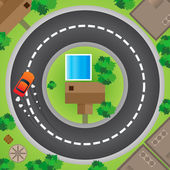 Driving in Circle — Stock Vector