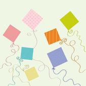 Seven Kites — Stock Vector