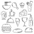 Royalty-Free Stock Vektorgrafik: Food and Beverage Doodles