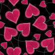 Seamless Paired Heart Background - Stockfoto