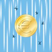 Euro Free Fall — Stock Vector