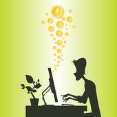 Making Money Online — Stock Vector