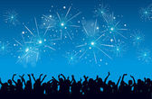 Celebrazione di nuovo anno — Vettoriale Stock