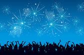 Yeni yıl kutlaması — Stok Vektör