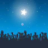 Reaching the Star — Stock Vector