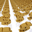 Dollar Gold Bars Line — Stock Photo